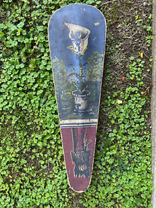 Amazing 19th Century Folk Art Nouveau Hand Painted Hand Made Wooden Violin Case