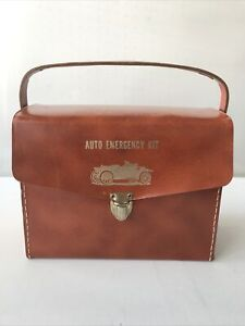 Vintage 1960's Auto Emergency Kit And Original Contents