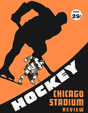 Chicago Black Hawks Game Program Cover (1948) - 8x10 Color Photo