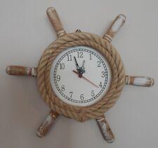 Reloj De Pared rueda De Barco De Cuerda Rustica Vintage Estilo Náutico Tema