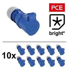 10 X 16 Amp 3pin 1PH Azul Socket 16A generador de gancho de Red Caravana Camping