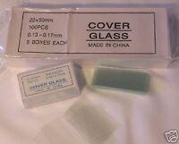 Microscope Slides Cover Glass Slip 22*50 mm 500 pcs New