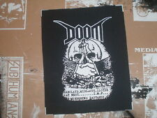 "DOOM ""MURDERING BASTARDS"" CLOTH PATCH EXTREME NOISE TERROR POLICE BASTARD DIY"