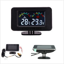 Universal LCD Car Water Temperature Meter Voltmeter Gauge+10mm Sensor Head Plug