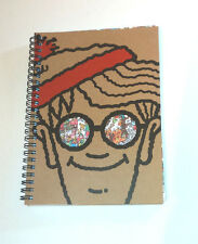 WHERE'S WALLY? A5 WIRO NOTEBOOK Glasses Window CutOut KRAFT Cover PICTURE INSIDE