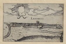 Fortified French City Plan - LANDRECI - by Tassin - Copper Engraving. - 1636