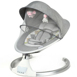 Baby Swing Electric Baby Chair Infant Crib Cradle Seat w/Remote Control