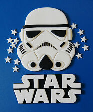 STAR WARS CAKE TOPPERS - LOGO, STAR TROOPER AND 25 STARS - ***LARGE SET 14CM***