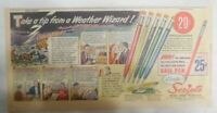 Scripto Pens & Pencils Ad: Take Tip from Weatherman! from 1940's Size: 7 x 15 in