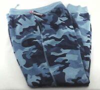 CHAMPION Fleece Jogger Sweatpants Blue Camo Preshrunk Men's New