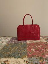 Arcadia Signature Red Patent Leather Satchel New