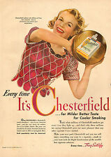 1942 vintage tobacco ad for CHESTERFIELD Cigarettes Basketball Jubilee 090216