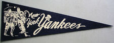 Vintage 1960's NY New York Yankees Baseball Mini PENNANT *EXC*