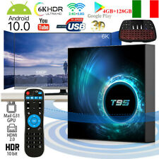 T95 Android 10.0 Smart TV Box Allwinner H616 6K 4GB+128GB WiFi Con Tastiera M4H8
