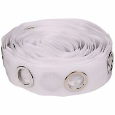 5M Eyelet Curtain Tape 40 Rings Accessories Sewing Sliver Curtains Blinds New SS