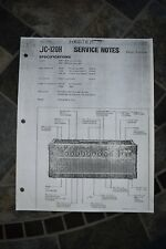 COPY Roland JC-120H Service Notes Manual - First Edition - Dec 1984
