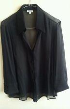 Camicia in SETA da donna, MARELLA ORIGINALE, TG. 44,colore nero, NUOVA, + regalo