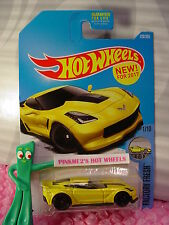 New! CORVETTE C7 Z06 #128✰yellow;black pr5✰Factory Fresh✰2017 Hot Wheels case F