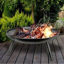 Vasque à Feu 59cm Barbecue de Jardin Foyer de Cheminée Accessoire Grill Pan