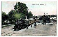 Early 1900s Railway Station, Wonewoc, WI Postcard *6E(3)3