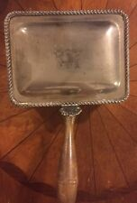 Antique Silverplated Silent Butler With Shell Decoration