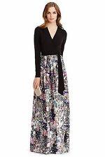 NWT $998.00 Diane Von Furstenberg DVF Kailey Silk Wool Blend Combo Wrap Gown 12