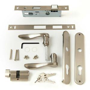Andersen Door Handle Lock Set Nickel 41598