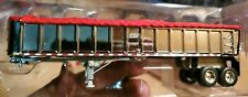 1/64 DCP CHROME EAST END DUMP TRAILER WITH RED TARP