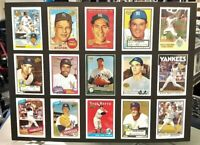 """YANKEE GREATS MATTED 15/CARD """"REPRINT"""" COLLECTABLE 12in x 16in NMT LOOKS GREAT"""