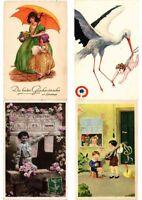 CHILDREN INFANTS COMIC GREETINGS Mostly ARTIST SIGNED 2000 Vintage Postcards