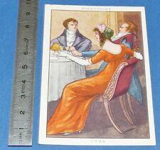 CHROMO 1950 GRANDE IMAGE BON-POINT BLEDINE COSTUME FEMININ DIRECTOIRE 1795