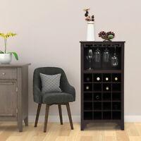 Free-standing 20-Bottle Wine Storage Rack Cabinet Wine Cellar Shelf Wine Holder