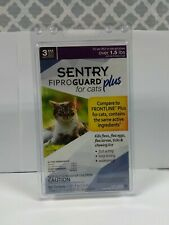 New Fiproguard Plus Flea & Tick Squeeze On, For Cats, 3 Pack, #1642