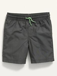 Old Navy Kid Boys Solid Gray Swim Trunks Shorts Size Medium (8) or Large (10-12)