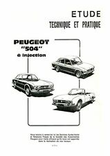 PEUGEOT 504 COUPE CABRIOLET TI MANUAL DE REPARACION WORKSHOP REVUE TECHNIQUE