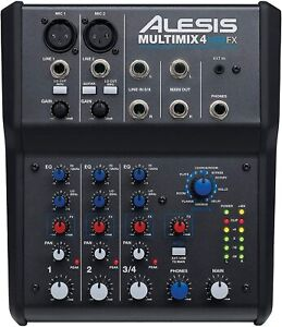 Studiomixer Alesis MultiMix 4 USB FX kompakter 4-Kanal Elektronik unvollständig