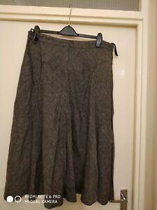 Hobbs Ladies Linen Skirt Size 18