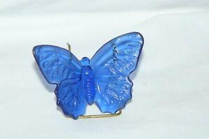 Vintage 1988 Boyd Art Glass Katie the Butterfly Figurine #2 Cobalt Blue EUC