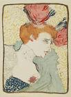 """Toulouse Lautrec Vintage French Art CANVAS PRINT Marcelle Lender poster 16""""X12"""""""
