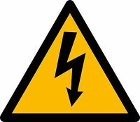 aufkleber sticker auto motorrad scooter achtung warnung strom elektrisch