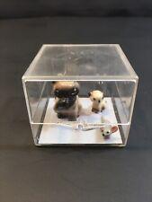 2 Vintage Hagen-Renaker Siamese Cat Kitten California Pottery Figurines + Mouse