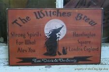 HAND PAINTED WITCHES BREW HALLOWEEN WOOD SIGN, Halloween Decor, Haunted House
