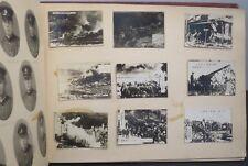 AOMORI STATION JAPAN SOUVENIR ALBUM W/ ADDED ORIGINAL WORLD WAR 2 PHOTOS CA 1945