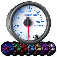 "GlowShift 52mm 2 1/16"" 35 Psi Boost Turbo Gauge w. 7 Color Illumination"