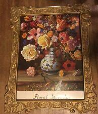 "Elya Peker 'Floral Splendor' Litho 36"" x 24"" Russian Artist co.1991 GOGY-9774"