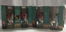 Set Of 8 Pioneer Woman Glasses Drinkware Tumblers Dazzling Dahlias 16 oz NIB