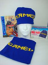 Vintage 93 Joe CAMEL Blue Knit, SKI HAT. Toboggan, Toque, Cap. No Box or Catalog