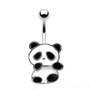 Belly Bar With Enamel Coated Panda
