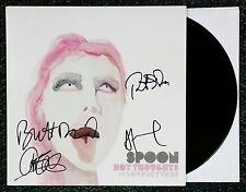 SPOON BAND SIGNED RSD HOT THOUGHTS EP VINYL RECORD ALBUM W/COA BRITT DANIEL