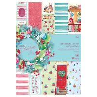 48 Blatt DIN A4 Christmas by Lucy Scrapbookingpapier Stanz und Papierblock II